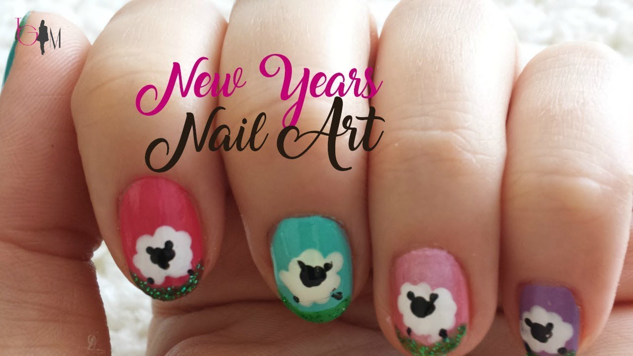 New Years Nail Art 2015 Nails Art For New Years Eve YouTube