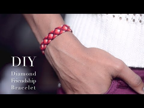 DIY Diamond Friendship Bracelet (Advanced) - YouTube