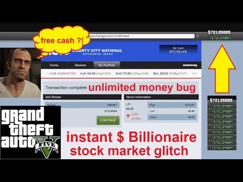 GTA 5 Instant Billlionaire Stock Market Glitch with Lifeinvader on Grand Theft Auto V PS4