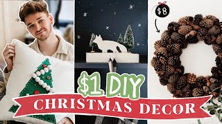 $1 DIY Christmas Decor That's ACTUALLY CUTE! (Budget Friendly + Cute!)