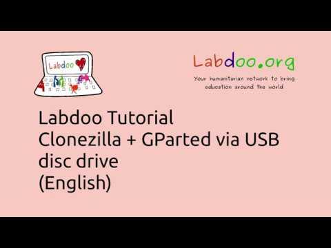 Clonezilla and GParted - Cloning using an external USB disc-drive (English)