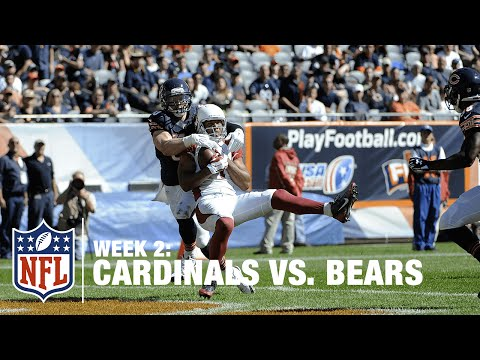 Carson Palmer Bombs It to Larry Fitzgerald for a 28-Yard TD | Cardinals vs. Bears | NFL