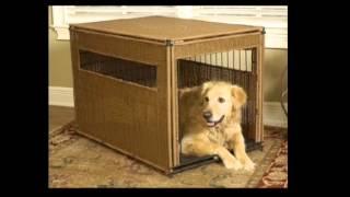 Mr Herzhers 13302 Wicker Dog Crate Medium Dark Brown
