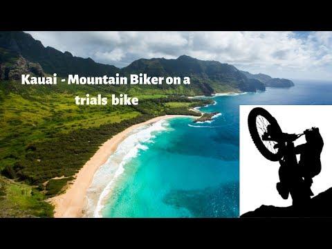 Kauai - Hawaii - Mountain Biker On A Dirt Bike - Trials On The Trails