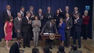 President Obama signs the Frank R. Lautenberg Chemical Safety for the 21st Century Act