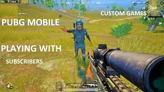 lets play pubg mobile II funny gameplay II custom games