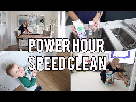 POWER HOUR CLEAN WITH ME || STAY AT HOME MOM/MUM SPEED CLEANING