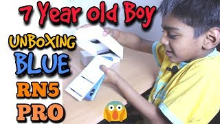 Redmi Note 5 Pro Blue | 7 Year Old Unboxing RN5 Pro | Young Youtuber in Town :)