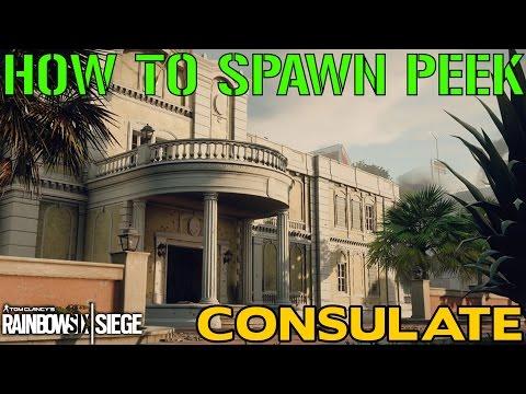HOW TO SPAWN PEEK: CONSULATE - Rainbow Six Siege Tips