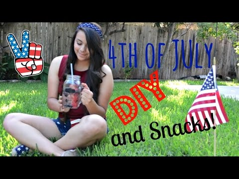 A 4th of July inspired video!(:Cute DIY Shorts| Snacks!!!