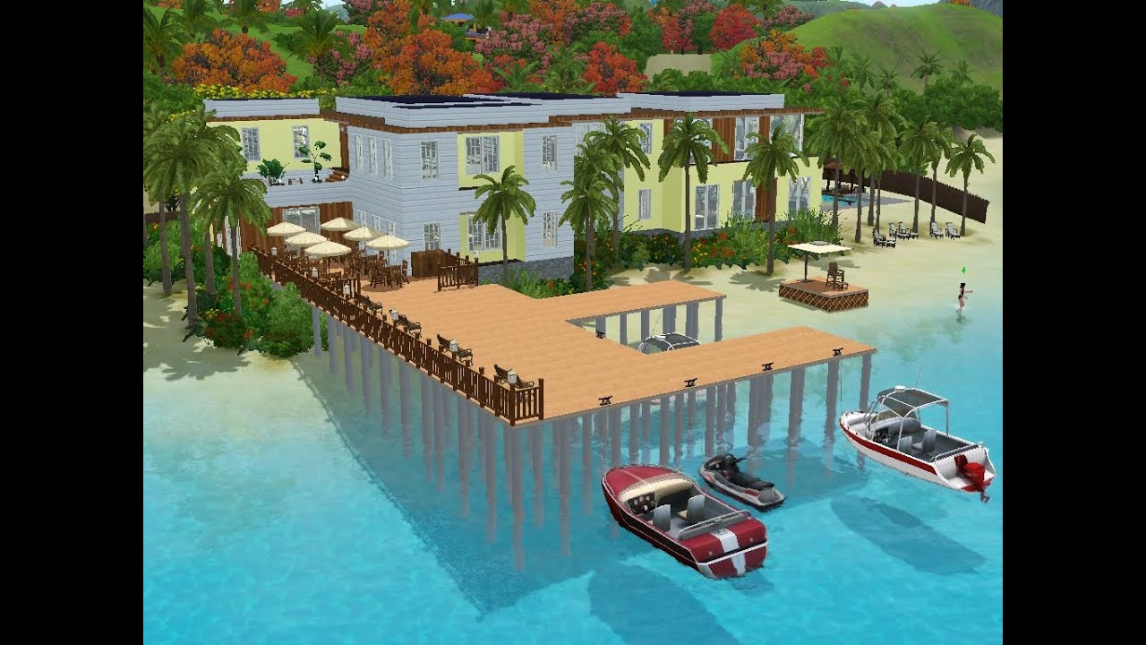 Sims 3 haus bauen let 39 s build hotel am meer youtube for Sims 3 modernes haus zum nachbauen