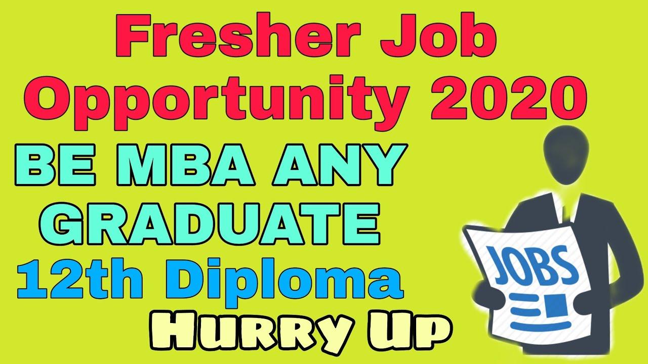 Latest Job vaccancy for Freshers| Any Graduate Apply| Mechanical Engineering Job 2020
