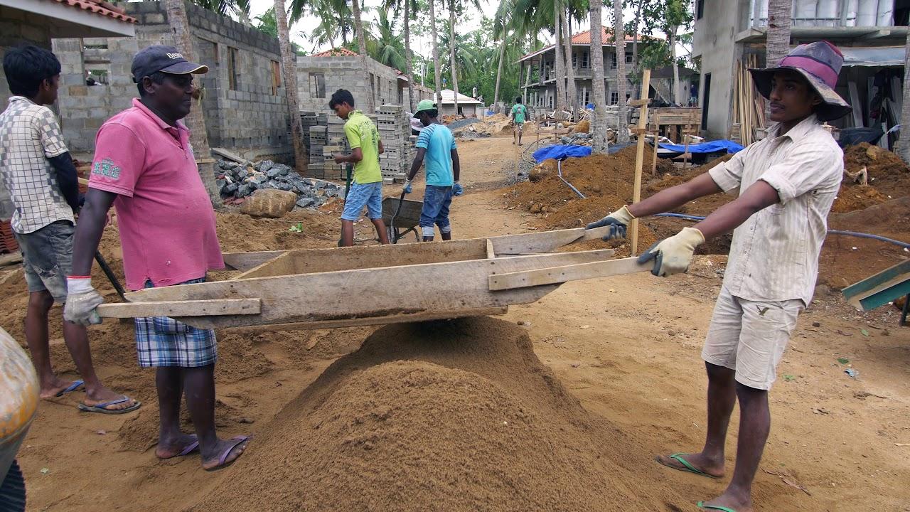 Construction of Tabula Rasa Resort, Sri Lanka  april 2018