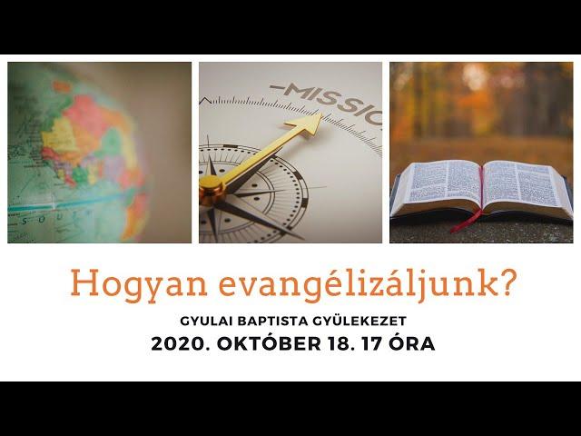 Hogyan evangélizálunk?
