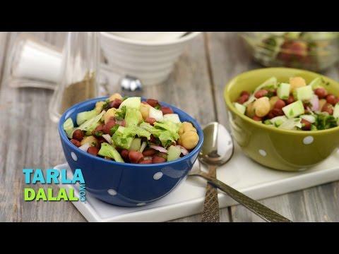 Lettuce And Bean Salad (Iron Rich Recipe) By Tarla Dalal