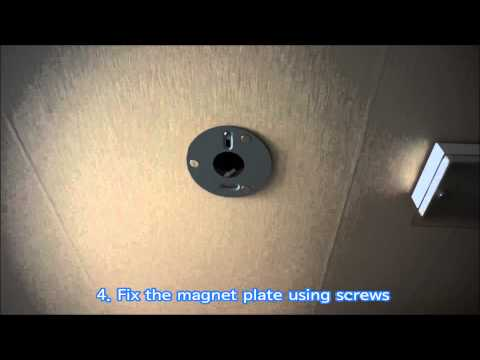 "Replace halogen lamp with 6"" LED panel light using magnet plate"