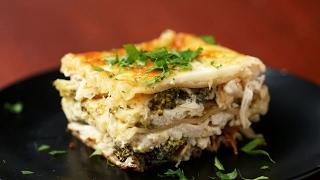 Creamy Broccoli Chicken Alfredo Lasagna