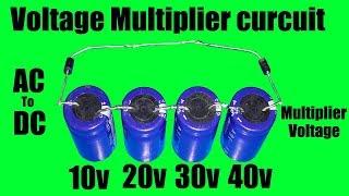 Voltage Multiplier Curcuit Ac to Dc 10v,20v,30,40v