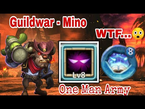 Guildwar | Mino Bomb 12/12 UP With 8/8 Revite | One Shot | Top-5 | Castle Clash