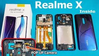 Realme X Teardown || Realme X inside POP UP Camera /How to open Realme X Back Panel