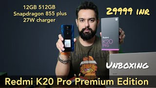 Hindi||Redmi K20 Pro Premium Edition 12GB 512GB Unboxing with Antutu & Geekbench4