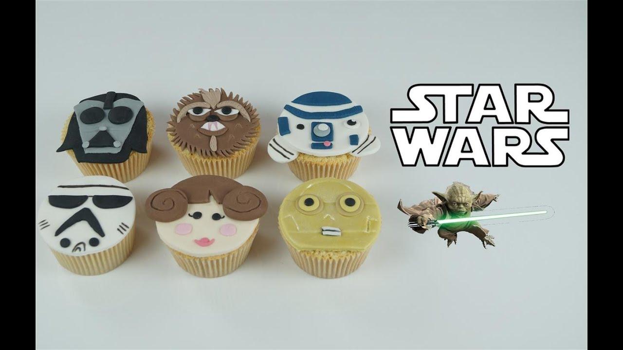 Super Star Wars cupcakes en pâte à sucre | Cake design - YouTube NO09