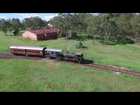 Richmond Vale Railway steamfest chasing Majorie by DRONE first time
