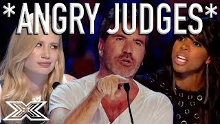 When X Factor Judges Get ANGRY! | X Factor Global thumbnail