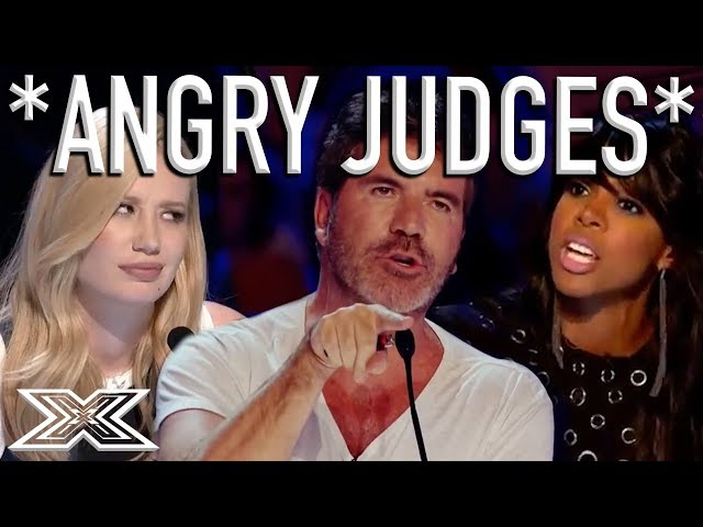 When X Factor Judges Get ANGRY!   X Factor Global