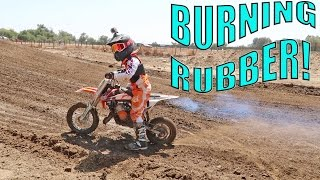 BURNOUTS ON A DIRTBIKE!