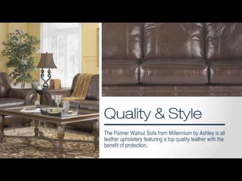 Palmer Walnut Leather Sofa You