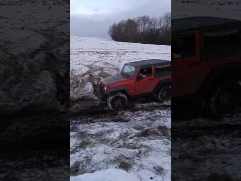Jeep snow and mud