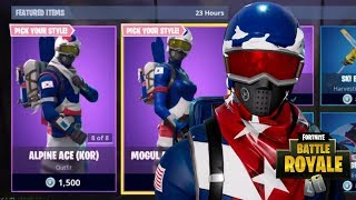 NEW RETURN ALPINE & MOGUL SKINS + SKI BOOT PICKAXE NEW FORTNITE ITEM SHOP (Fortnite Battle Royale)