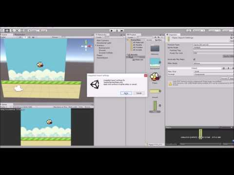 How Create A Flappy Bird Game In Unity 3D : Part1