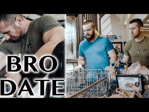 BRO DATE- Arm Gains, Brocery Haul, Post Workout Feast