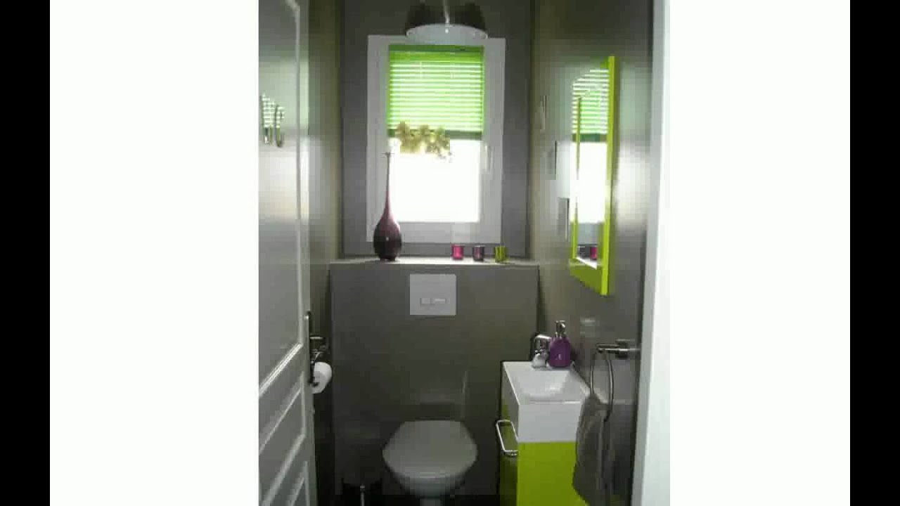 D coration toilettes moderne youtube - Decoration toilette gris ...