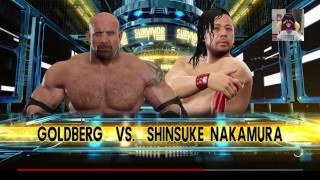 WWE 2K17: goldberg vs shinsuke nakamura HELL IN A CELL!!!!