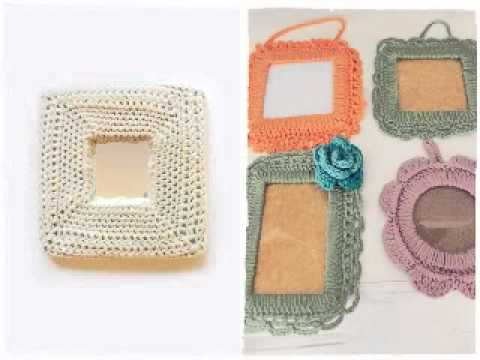 Photo Frames Decorated with Crochet Fabric - YouTube