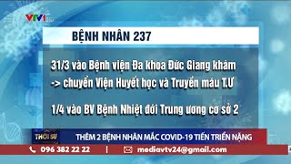 Việt Nam có 237 ca mắc COVID-19, thêm 10 bệnh nhân công bố khỏi bệnh, 2 bệnh nhân tiến triển nặng
