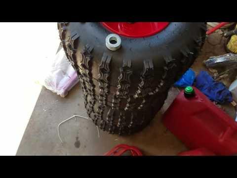 Assembly: yutrax TX159 Black/Red Trail Warrior X4 ATV Utility Trailer