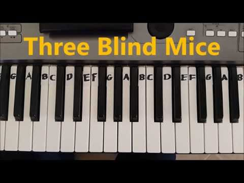 How To Play Three Blind Mice. Easy Piano Keyboard Tutorial