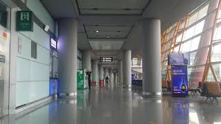 Walking from Hourly Lounge to Gate E36, Beijing Capital International Airport (04-04-2019) - China