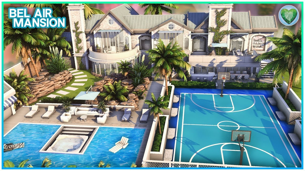 Ultimate Celeb Mansion 💰 + Sunken Hot Tub?! [No CC] - Sims 4 Speed Build | Kate Emerald