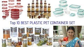 Top 10 Best Plastic Pet Containers Set 2018 || Suguna