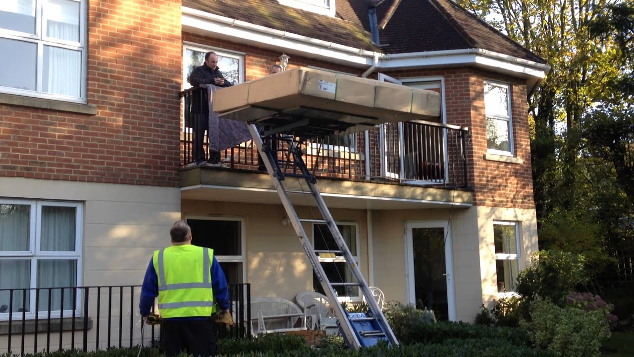 Haul it up portable furniture hoist for hire at haulitup for Lift furniture to second floor