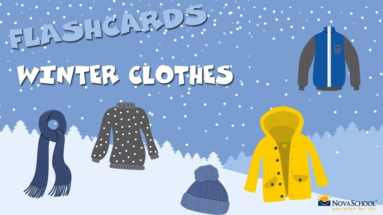 Ropa De Invierno En Inglés Para Niños Winter Clothes Vocabulary