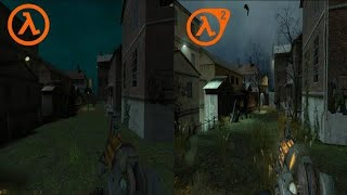 Half-Life 2 vs. Half Life 2 recreated in Half Life 1 - Ravenholm Comparison