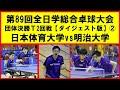 【卓球プレイバック】 明治大学 vs 日本体育大学② インカレ 決勝T2回戦