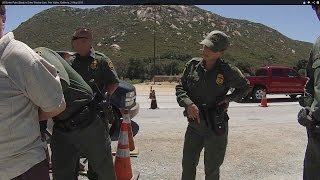 US Border Patrol Checkpoint Refusal - Pine Valley, California, Break Window