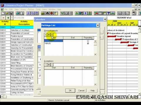 Primavera Project Planner 3 Part 6 Of 13 Youtube